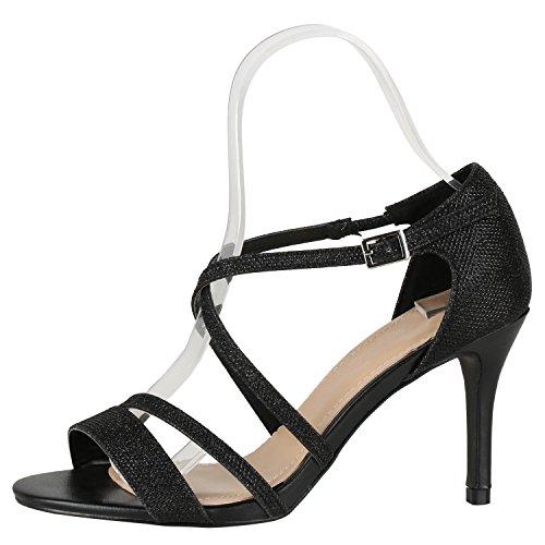 Japado Nero Con Alla Donna Cinturino Scarpe Caviglia 7U7wPq