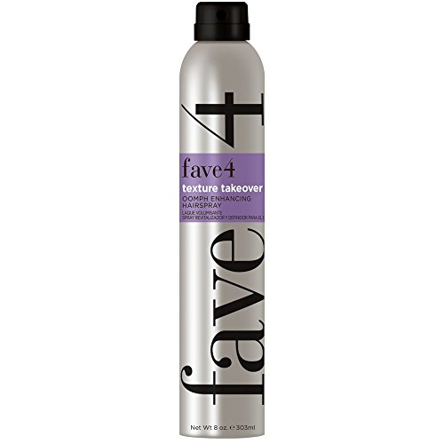 fave4 Texture Takeover Oomph Enhancing Hairspray - Dry Texturized Hold for All Over Volume - Safe for Color Treated Hair and Sulfate, Paraben, Gluten, and Cruelty-Free, Agave Pear (8 oz)