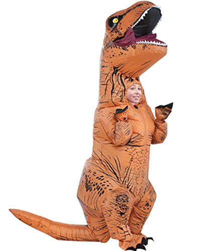 [Inflatable Dinosaur T-Rex Blow Up Tyrannosaurus Jurassic Party Cosplay Costumes Chubsuit (Adult size(150-200CM),] (Inflatable Chub Suit Costume)