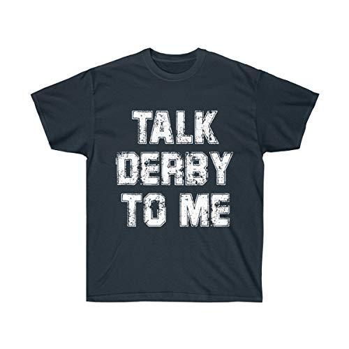 Talk Derby to Me Cinco de Mayo Derby Mexian Kentucky Horse Race Tshirt Navy ()