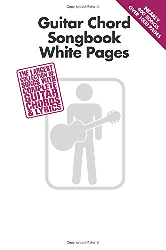 Guitar Chord Songbook White Pages (Guitar Chord Songbook)