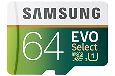 Samsung 64GB 80MB/s EVO Select Micro SDXC Memory Card (MB-ME64DA/AM) from Samsung Electronics DAV