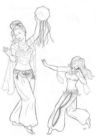 Amazon.com: Hathaya\'s Harem Pants Pattern (Belly Dance)