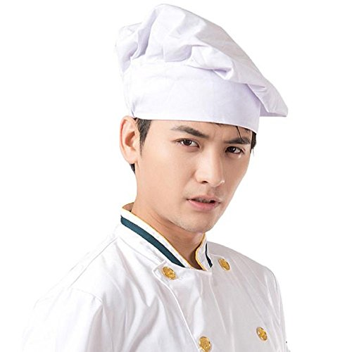 Owill Chef Works CHAT Hat Cooking Cook Food Prep Resturant Home Kitchen Gift Eat (White) (Cap Womens Cook)