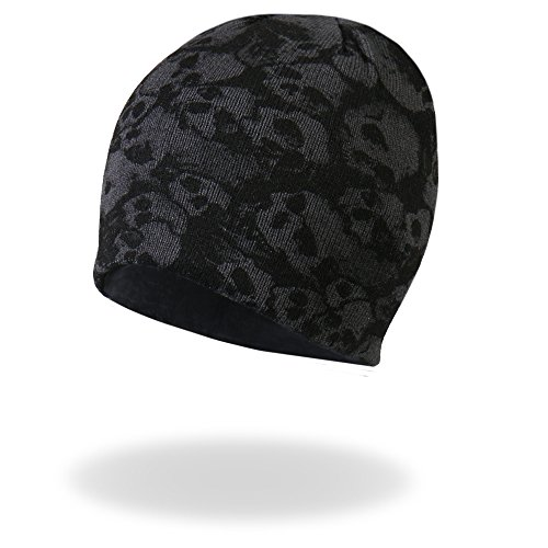 (Hot Leathers Ancient Skulls Knit Cap (Black, One Size))