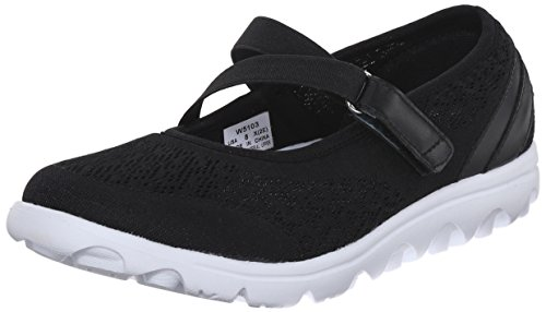 Propet Women's TravelActiv Mary Jane Fashion Sneaker, Black, 11 M US