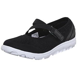 Propet Women's TravelActiv Mary Jane Fashion Sneaker, Black, 11 W US