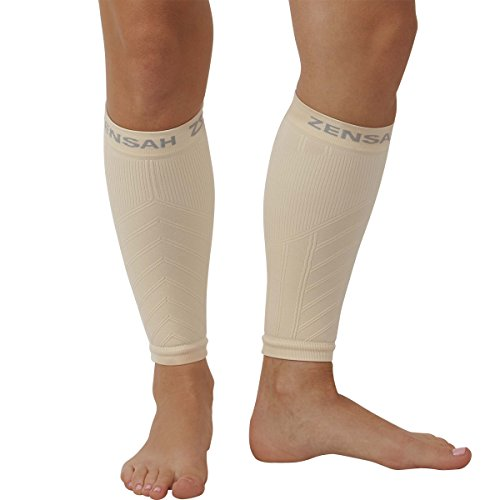 Legs Beige - Zensah  Compression Leg Sleeves, Beige, X-Small/Small