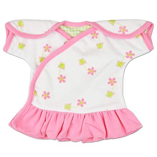 Perfectly Preemie Reversible IV-Dress - NICU-Friendly (Flower Pot Pink, Teeny)