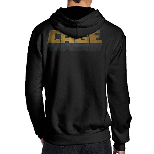 [SEVEN 78 Luke Cage Sport Men's Hooded Sweatshirt XL Black] (Jessica Jones Marvel Costume)