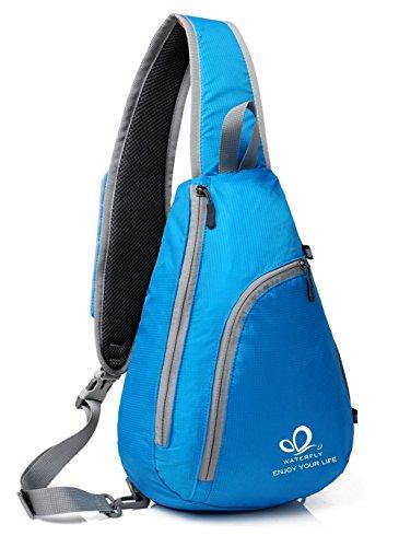 Acampada WATERFLY Bolsa para Blau Bandolera Cruzada Mochila Bolso Exterior Bandolera blau Excursionismo Mochila para Mujer Senderismo Deporte y Hombre Plegable nT1ngxPr