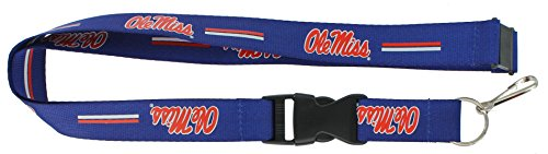 aminco NCAA Mississippi Ole Miss Rebels Team Lanyard
