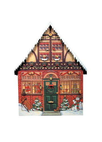 Byers' Choice Christmas House Advent - Calendar Box Christmas
