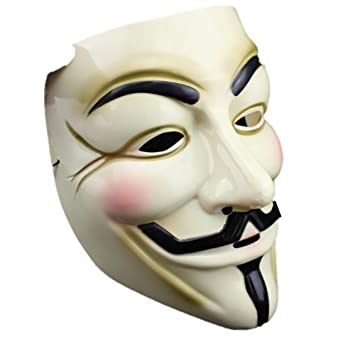 V for Vendetta Mask / Anonymous / Guy Fawkes mask mask pvc yellow cream (japan