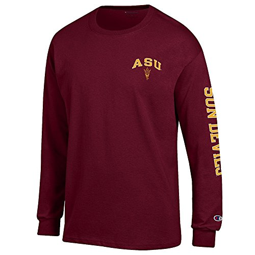 Arizona Long Sleeve T-shirt (Arizona State Sun Devils Long Sleeve TShirt Letterman Maroon - XL)