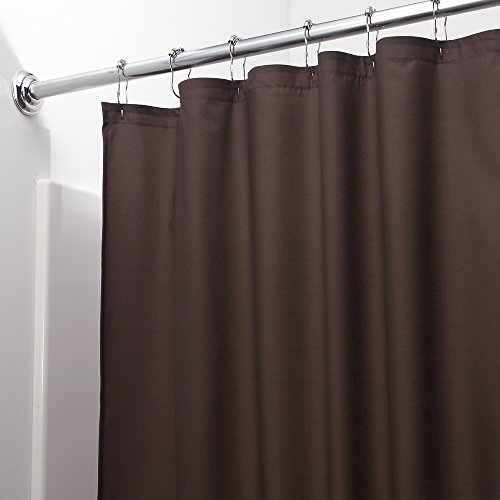 mDesign Water-Repellent and Mildew-Resistant Fabric Shower Curtain, 108