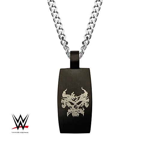Officially Licensed WWE, Brock Lesnar Black Pendant with Chain, Chain Length: 24 inches by Officially Licensed