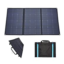GetChance 100W 12V (ETFE+Fiberglass+Fabric) Semi Flexible Foldable Solar Panel Kit Charger Outdoor Solar Panel Suitcase with 10A Built-in Solar Charge Controller for Camping, Hiking, Caravan, RV and Boat