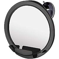 Espejo de ducha para afeitarse con ventosa, 20cm