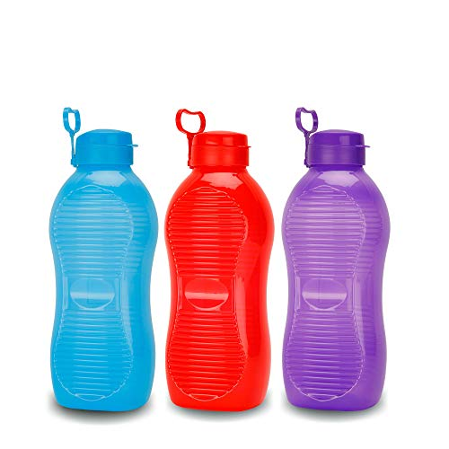 Oliveware King 2 Litre Water Bottle Multi Colors | for Home, Office & Gym | 2000 ML King Size | Sturdy with Holder | BPA Free Premium Bottle | Best Big 2L Bottle (Pack of 3) Price & Reviews