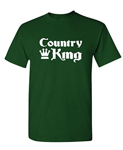 Gooder Tees - Country King - Mens Cotton T-Shirt, S, Forest ()
