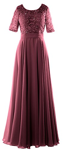2019 Evening Dress Of Formal Wine Macloth Gown Mother Half Sleeve Lace Red Women Bride gnZnXqxH