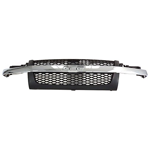 Titanium Plus 2004-2012 Chevy Colorado Front GRILLE DARK -