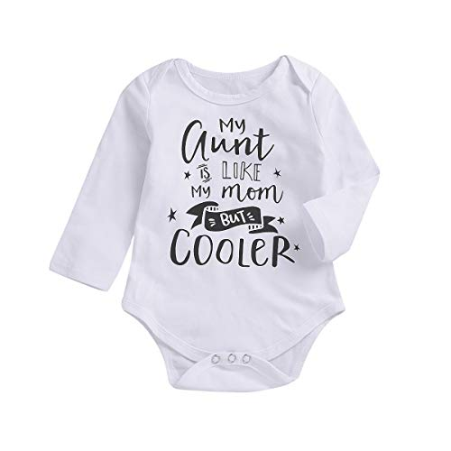 Seven Young Infant Baby Bodysuit,Newborn Boys Girls Short Sleeve Aunt Romper Playsuit Outfit Clothes