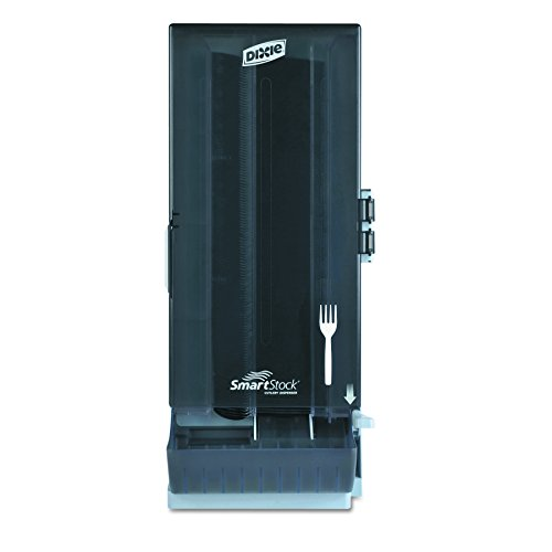 Dixie SSFD120 SmartStock Mediumweight Polystyrene Dispenser, Fork, 10