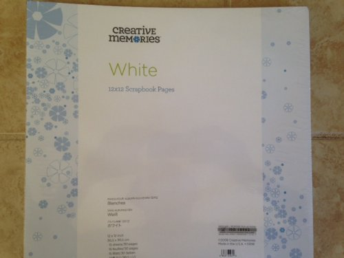 - Creative Memories 12x12 12 X 12 White Refill Pages True New in Plastic