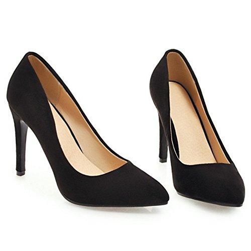 Cordones Mujer Black 10cm Zapatos Coolcept Stiletto Sin TqwBfMxEH