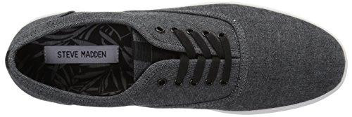 Steve Madden Hombre Franco Sneaker Black Fabric