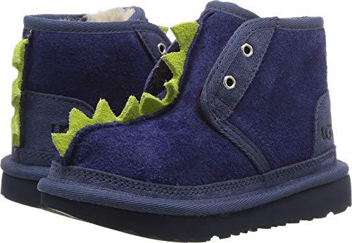 UGG Little Kids Dydo Neumel II Boot Navy/Bright Chartreuse S