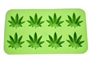 Fairly Odd Novelties Novelty Gag Gift Cannabis Marijuana Pot Leaf Shape Stoner Ice Cube Tray Mold by Fairly Odd Novelties