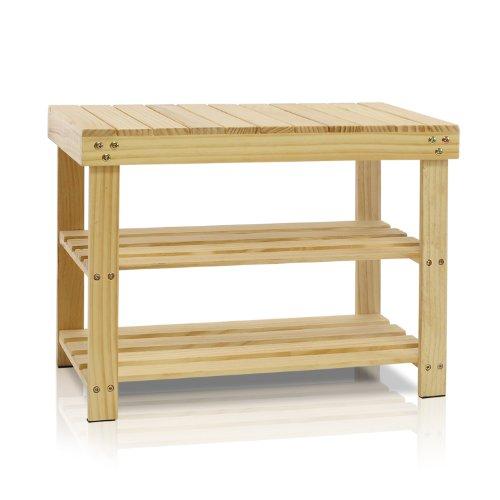 (Furinno FNCJ-33019 Pine Solid Wood Shoe Rack,)