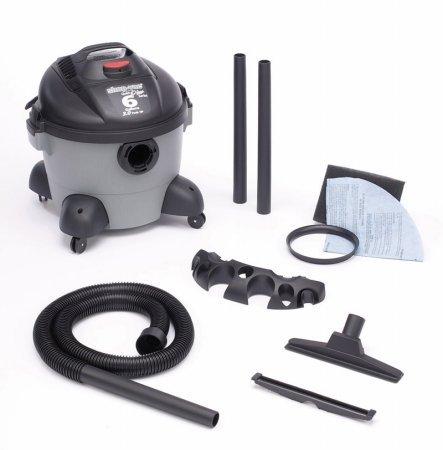 Around Plus Wet Dry Vacuum (Shop-Vac 5960600 2.75-Peak Horsepower Quiet Plus Wet/Dry Vacuum, 6-Gallon)