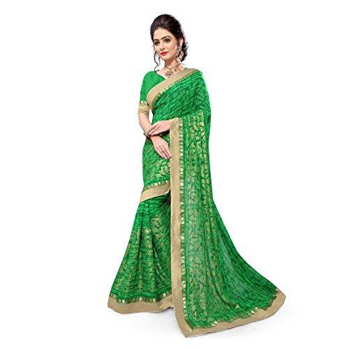 green georgette dress - 7