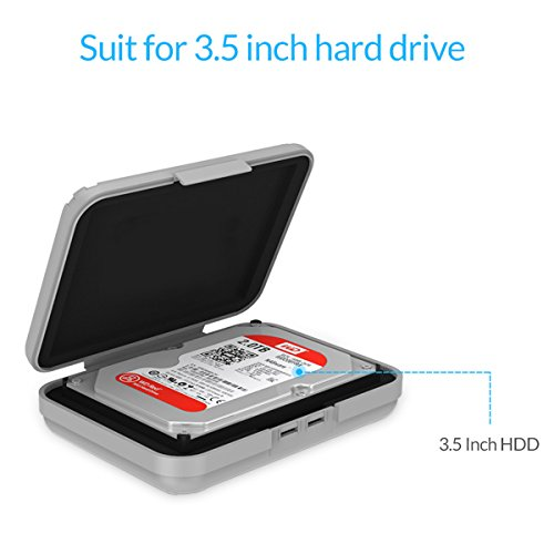 5-Pack Yottamaster 3.5 Inch Portable HDD Case / External Hard Drive Case -Gray by Yottamaster (Image #3)