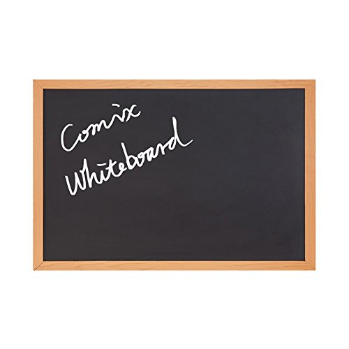 COMIX 24''x36''/2 x3 ft ChalkBoard blackboard for Home, School, and Offfice - Wood Frame (BB6090) back to school/campus