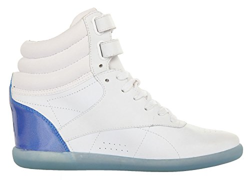 Reebok Damen Sneakers Freestyle HI Wedge AK INT White-Aviator Blue V51917