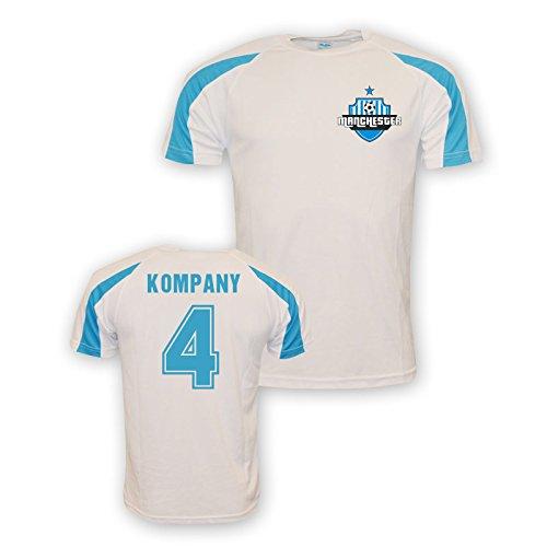 Vincent Kompany Man City Sports Training Jersey (white) Kids B01M8PTMLNWhite LB (9-11 Years)