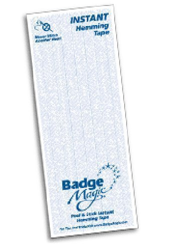 (Badge Magic Hemming Tape Peel & Stick Fabric Adhesive Washable Removable)