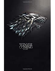 Winter is Coming, Stark: Game of thrones notebook, 100 lined pages