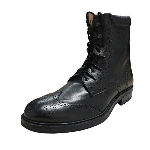 Thistle Scottish Black Leather Ghillie Kilt Boots 9 US -