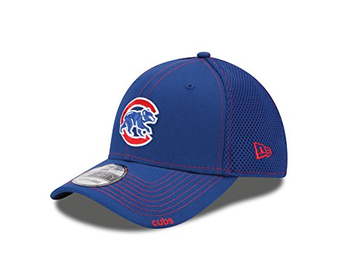 MLB Chicago Cubs Alternate 2014 NEO 39Thirty Stretch Fit Cap, Blue, Small - Alternate Era Cap New