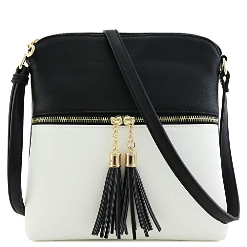 Tassel Zip Pocket Crossbody Bag ()