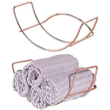 Amazon.com: mDesign Modern Metal Wire Wall Mount Towel