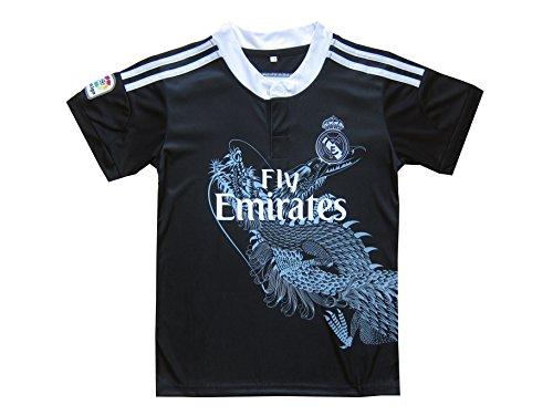 GamesDur Real Madrid RONALDO  7 Black Dragon Soccer Kids Jersey   Short    Sock   Soccer Bag Youth Sizes bb24f2387