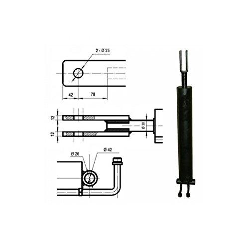 ORIGINAL ATIKA Ersatzteil - Hydraulikzylinder für Brennholzspalter ASP 14 *NEU*