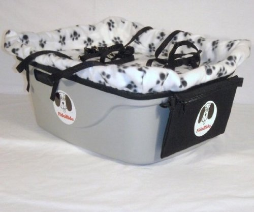 2 Seater Dog Car Seat Finish: Gray, Harness Sizes: Large and Large, Lining Color: White by FidoRido